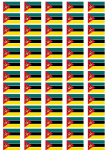 Mozambique Flag Stickers - 65 per sheet
